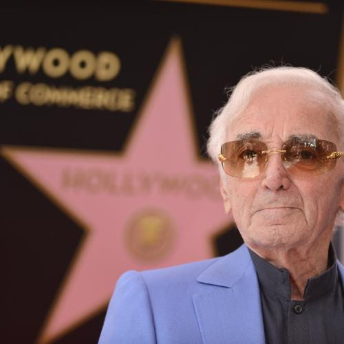Charles Aznavour honoré à Hollywood