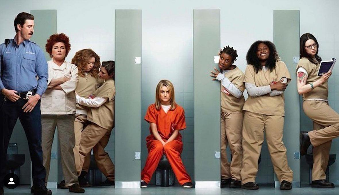 "Taylor Schilling au centre du casting de ""Orange is the new black"". © Instagram"