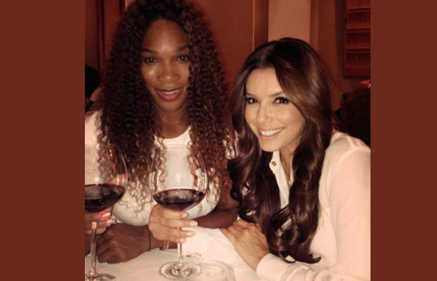 repas entre copines pour serena williams et eva longoria. Black Bedroom Furniture Sets. Home Design Ideas
